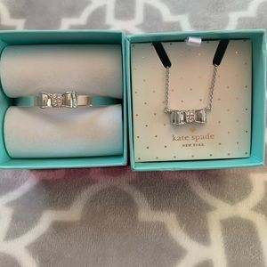 Kate Spade matching bracelet and necklace